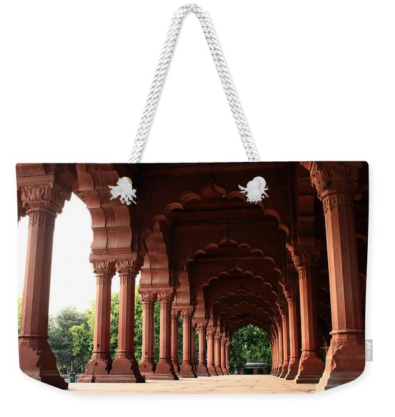 Engrailed Arches, Red Fort, New Delhi Weekender Tote Bag