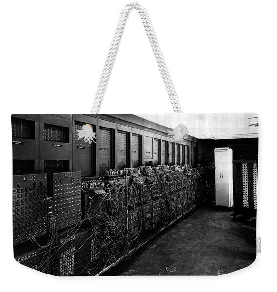Eniac Computer Weekender Tote Bag
