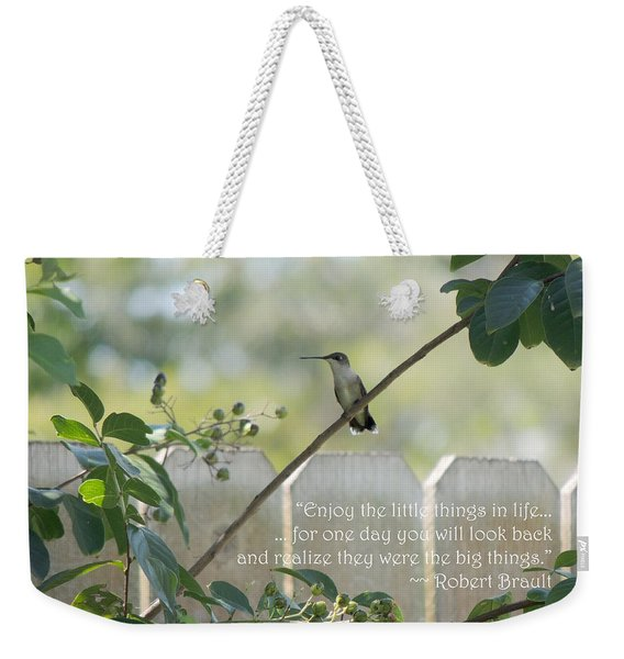 Hummingbird On Crepe Myrtle Weekender Tote Bag