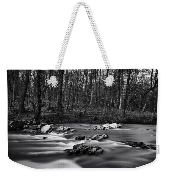 Eno River Smooth Weekender Tote Bag
