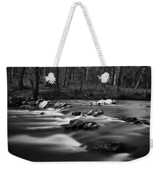Eno River Smooth Weekender Tote Bag
