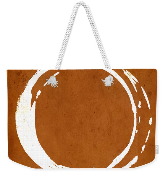 Enso No. 107 Orange Weekender Tote Bag