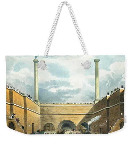 Entrance Of The Railway At Edge Hill Weekender Tote Bag