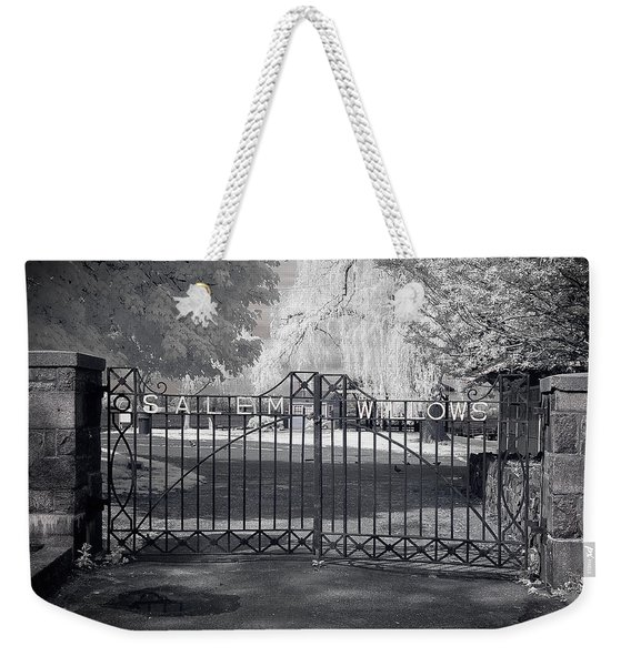 Entry To Salem Willows Weekender Tote Bag