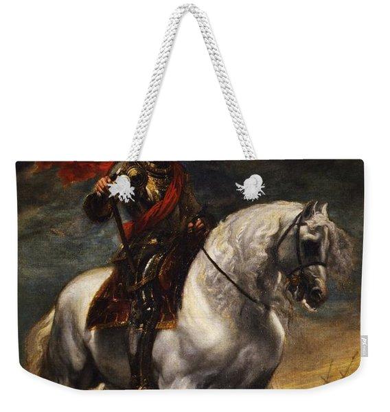 Equestrian Portrait Of The Emperor Charles V Weekender Tote Bag