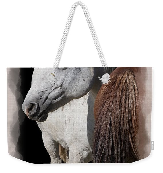 Equine Horse Head And Tail Weekender Tote Bag