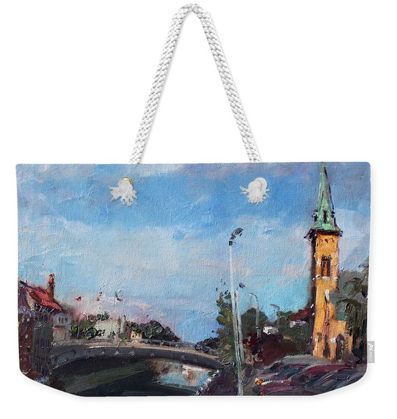 Erie Canal In Lockport Weekender Tote Bag