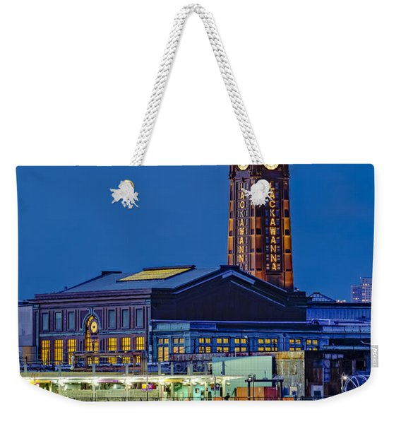 Erie Lackawanna Terminal Hoboken Weekender Tote Bag
