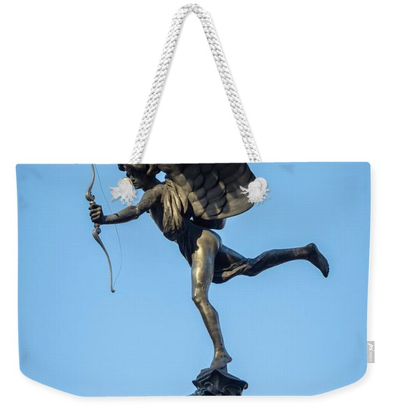 Eros Statue At Piccadilly Circus Weekender Tote Bag