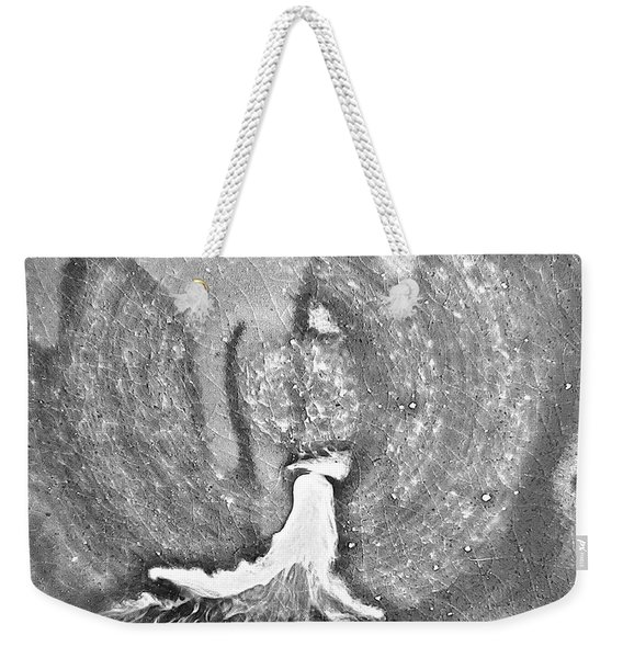 Eruption Blackwhite  Weekender Tote Bag