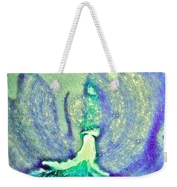 Eruption Greenpurple Weekender Tote Bag