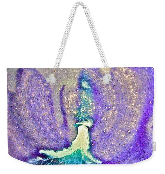 Eruption Purpleteal Weekender Tote Bag