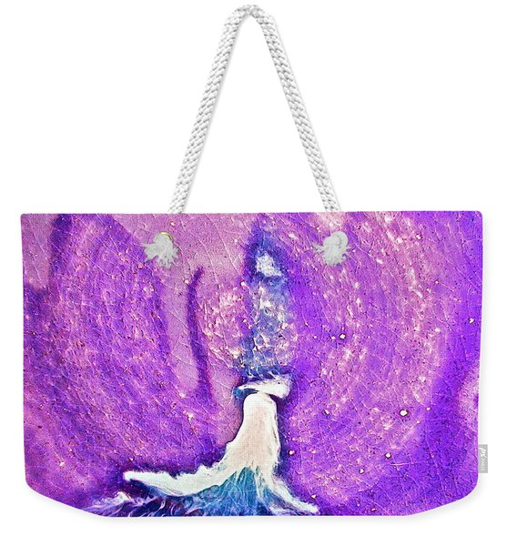 Eruption Tealpurple  Weekender Tote Bag