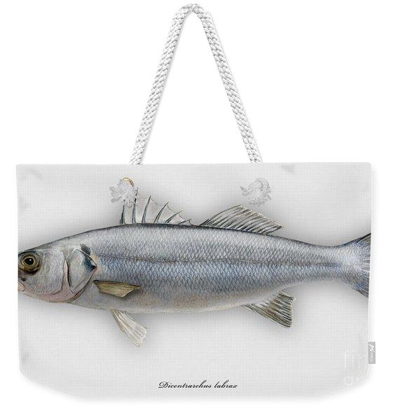 European Seabass Dicentrarchus Labrax - Bar Commun - Loup De Mer - Lubina - Havabor - Seafood Art Weekender Tote Bag