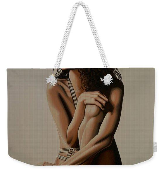 Eva Longoria Painting Weekender Tote Bag