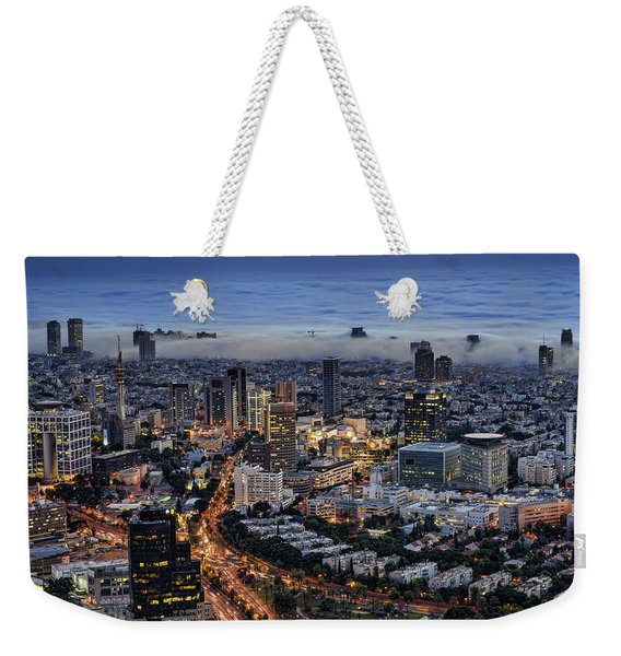 Evening City Lights Weekender Tote Bag
