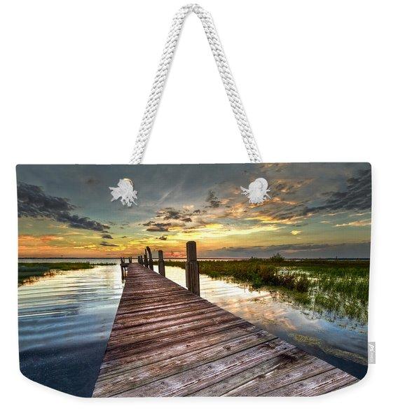 Evening Dock Weekender Tote Bag