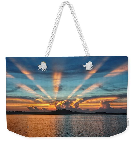 Evening Fire 2 Weekender Tote Bag