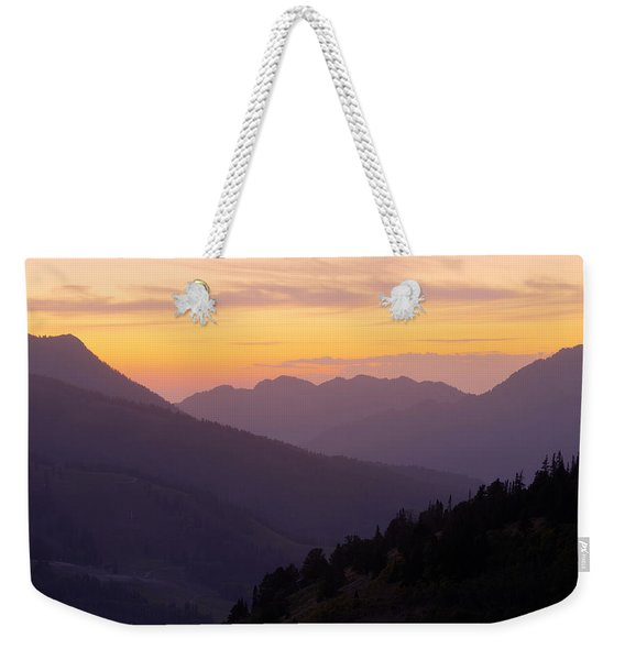 Evening Layers Weekender Tote Bag