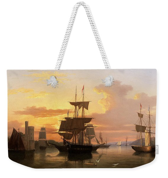 Evening On The River Lee Below Blackrock Castle Weekender Tote Bag