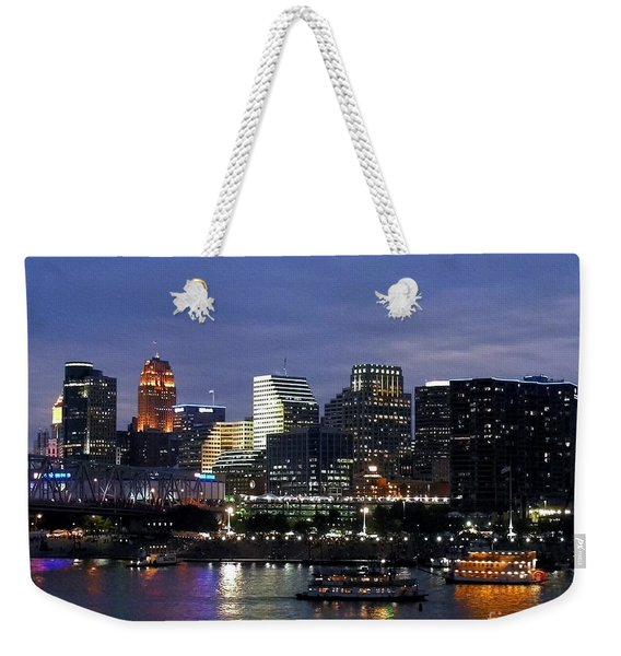 Evening On The River Weekender Tote Bag