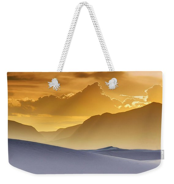 Evening Stillness - White Sands Sunset Weekender Tote Bag