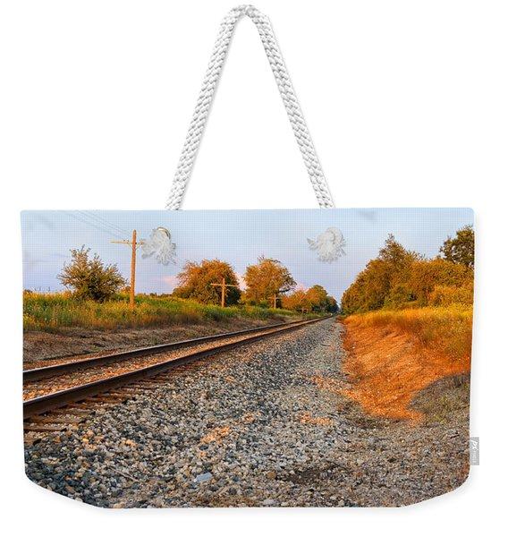 Evening Tracks Weekender Tote Bag