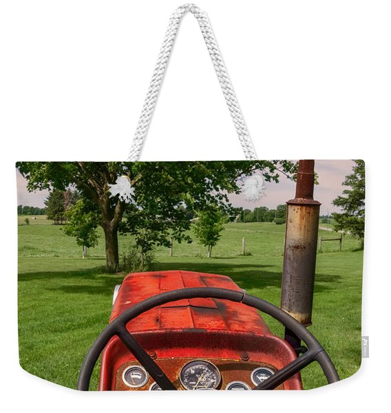 Ever Drive A Tractor Weekender Tote Bag