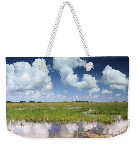 Everglades Landscape With Clouds Reflection Weekender Tote Bag