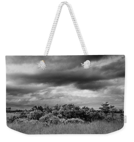 Everglades Storm Bw Weekender Tote Bag