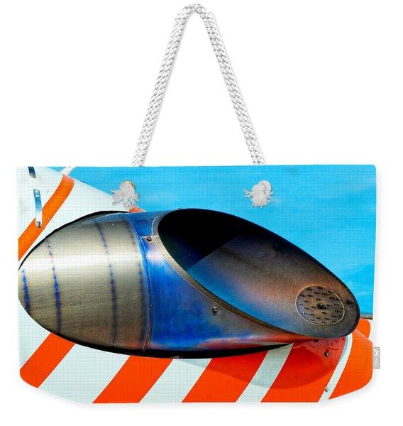 Exhausted Weekender Tote Bag