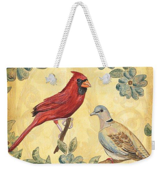 Exotic Bird Floral And Vine 2 Weekender Tote Bag