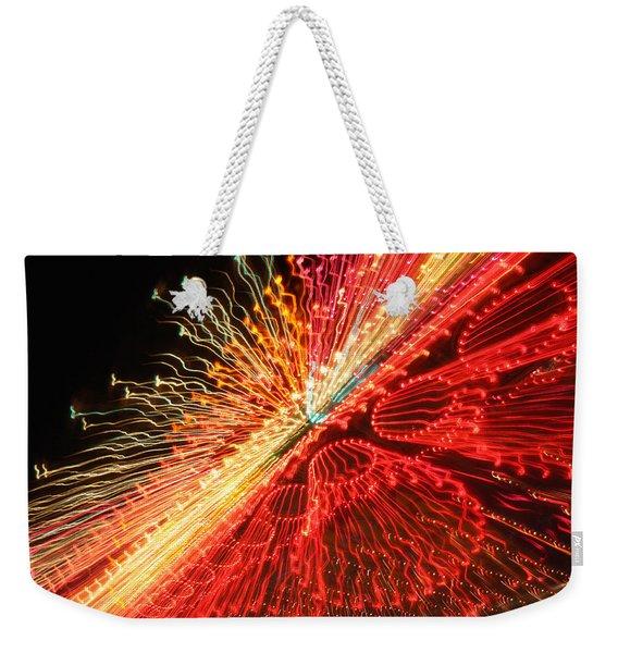 Exploding Neon Weekender Tote Bag