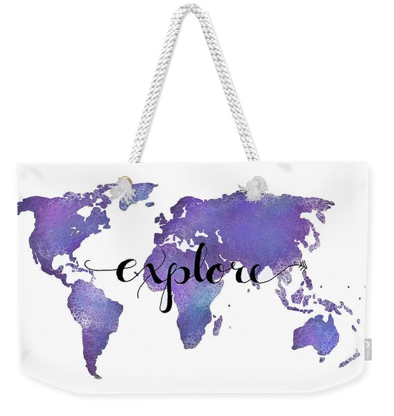 Explore World Map Painting Weekender Tote Bag