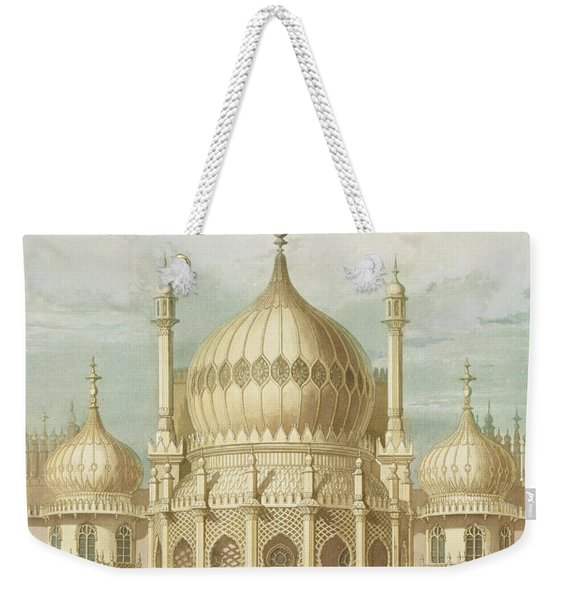 Exterior Of The Saloon From Views Of The Royal Pavilion Weekender Tote Bag