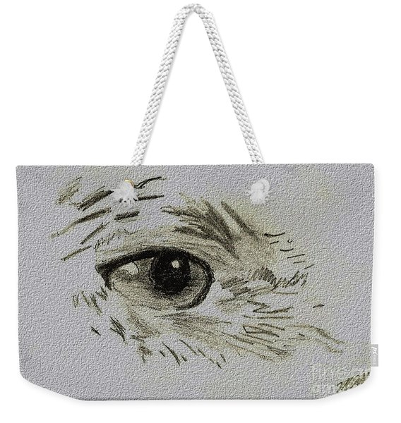 Eye - A Pencil Drawing By Marissa Weekender Tote Bag