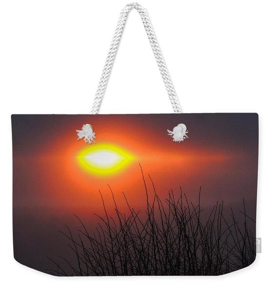 Eye Of Winter Weekender Tote Bag