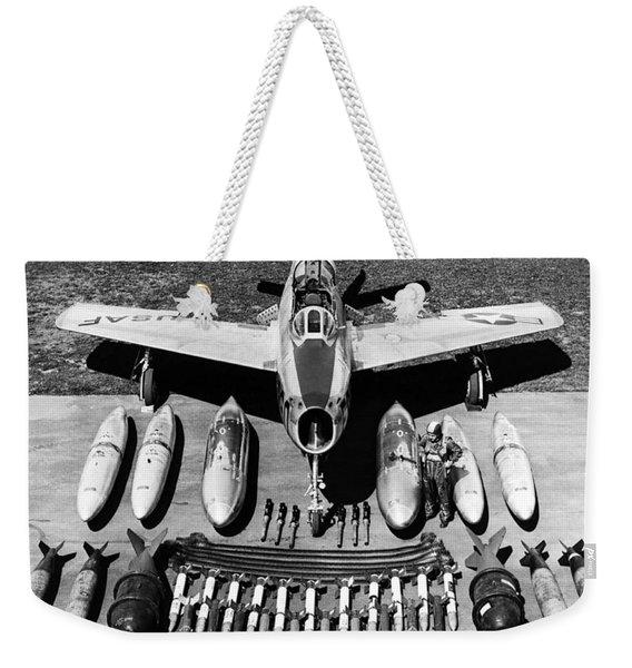 F-84f Thunderstreak Weapons Weekender Tote Bag