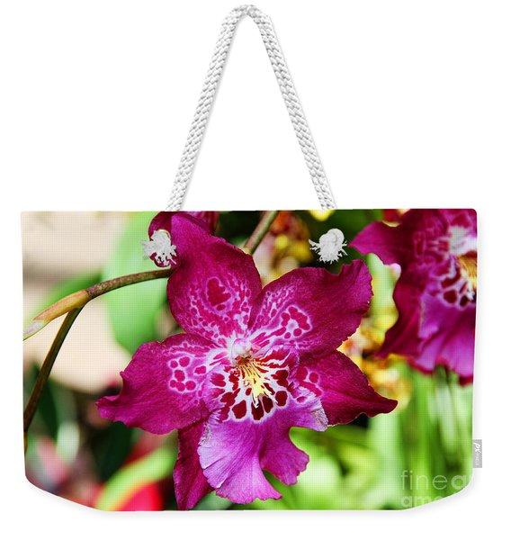Fabulous Fushia Orchids By Diana Sainz Weekender Tote Bag