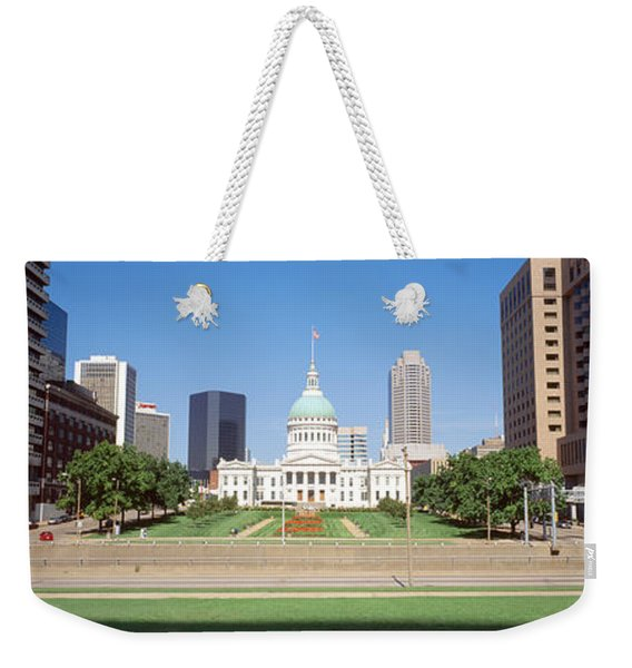 Facade Of A Courthouse, Old Courthouse Weekender Tote Bag