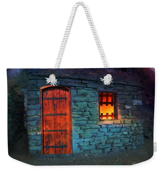 Weekender Tote Bag featuring the photograph Fairy Tale Cabin by Gunter Nezhoda