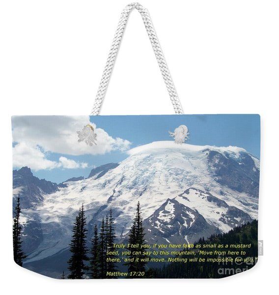 Faith Of A Mustard Seed Weekender Tote Bag