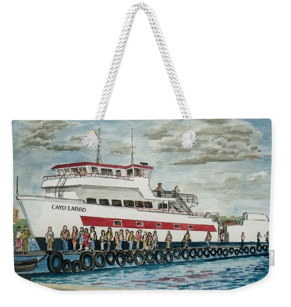Fajardo Ferry From Vieques Puerto Rico Weekender Tote Bag