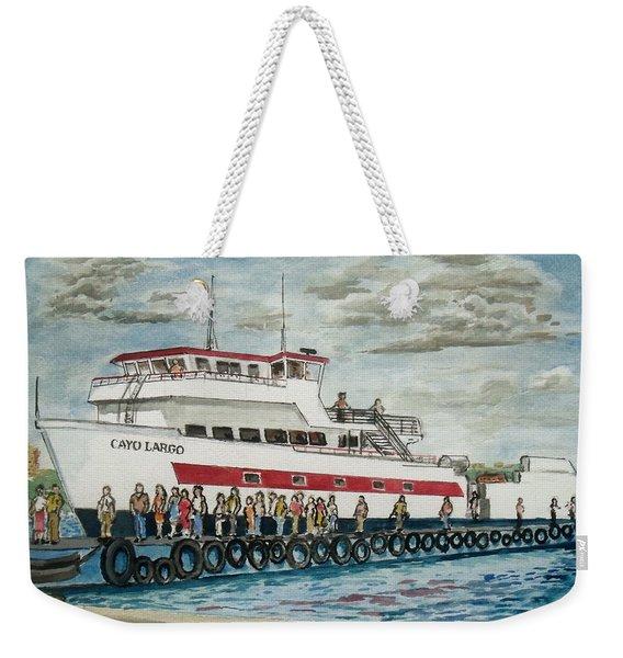 Fajardo Ferry From Vieques Puerto Rico Weekender Tote Bag