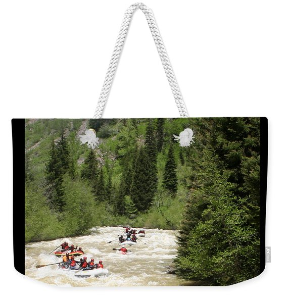 White Water Rafting On The Animas Weekender Tote Bag