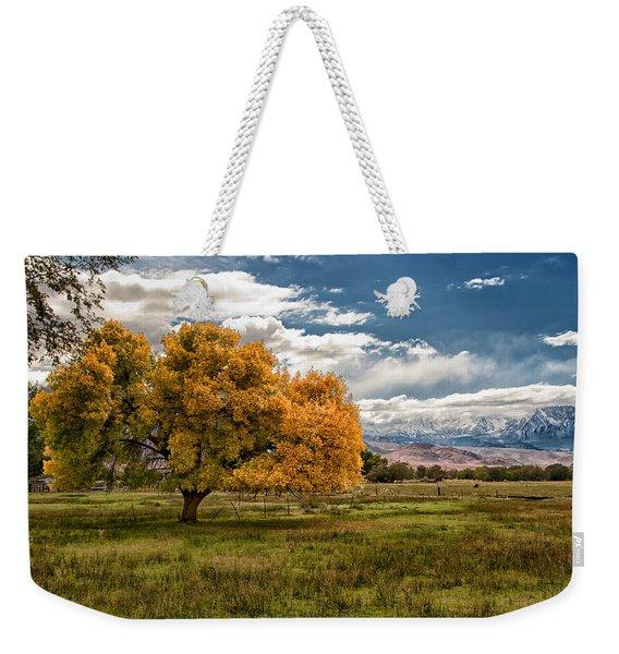 Fall And Winter Weekender Tote Bag