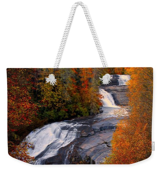 Fall At Triple Falls Weekender Tote Bag