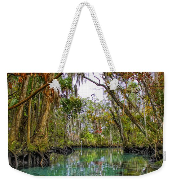 Fall Colors Along Three Sisters Spring Run Weekender Tote Bag