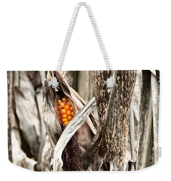 Fall Corn Weekender Tote Bag