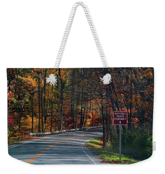 Fall Drive In Tennessee  1 Weekender Tote Bag